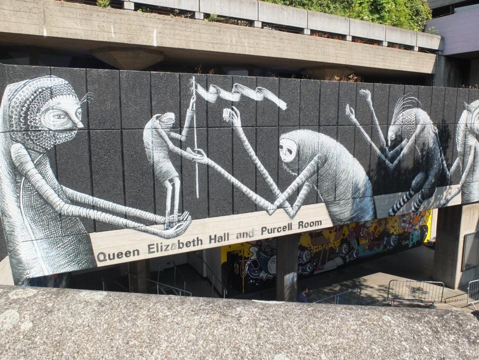 Graffiti on London's Southbank