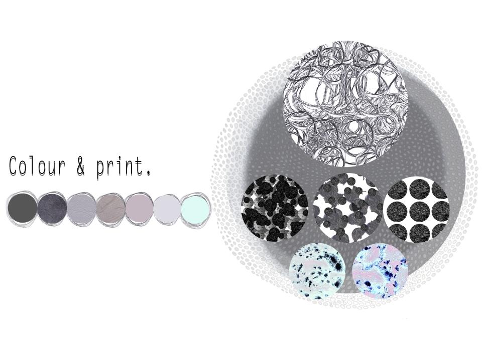 Print and colour portfolio page